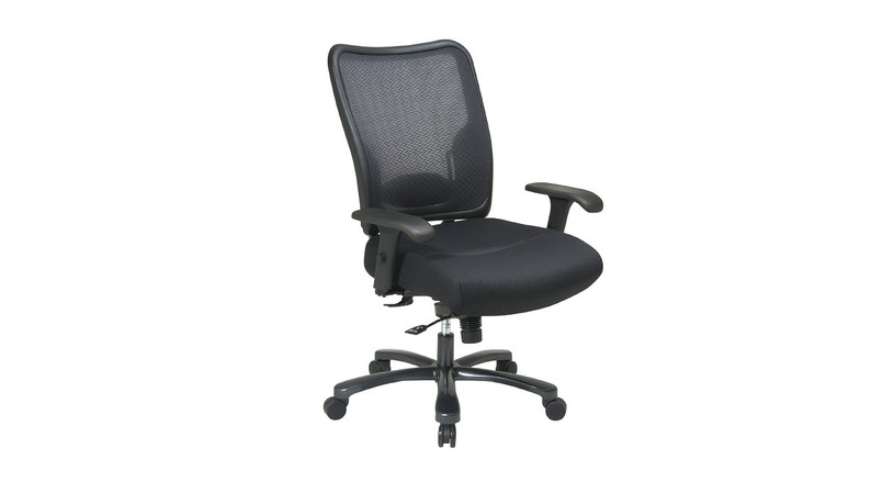 Thickly padded seat with a breathable mesh back