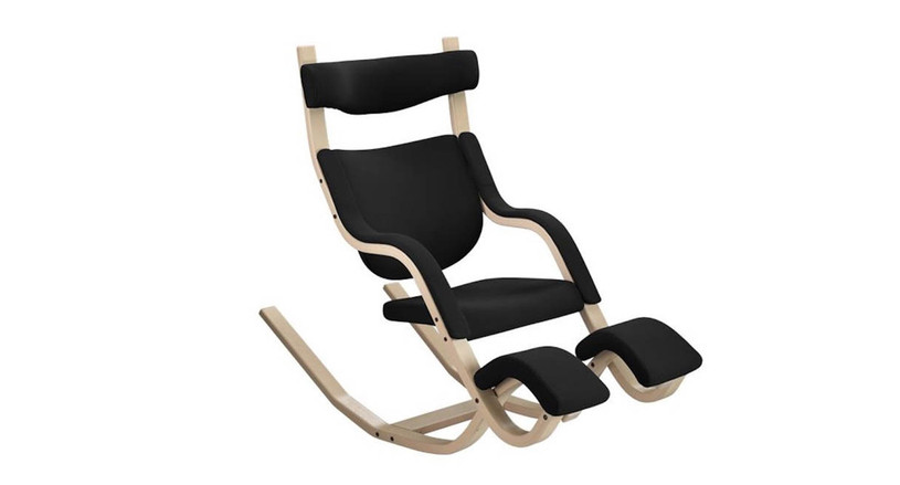 Unique open design allows users to change positions for comfort