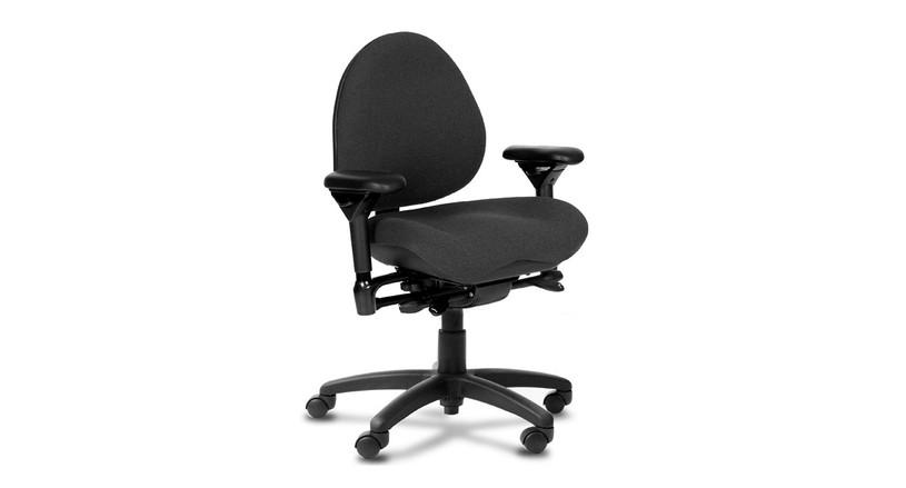 The BodyBilt 757 Ergonomic Task Chair's backrest angle is adjustable