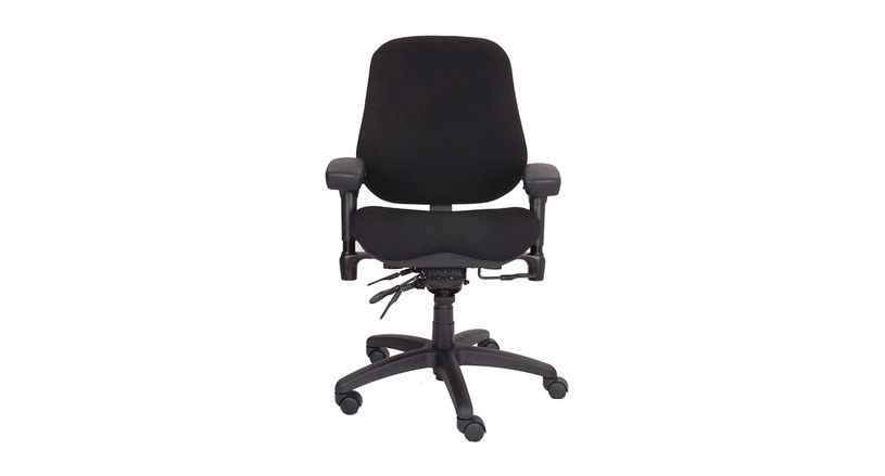 """The BodyBilt 2507 High Back Executive Chair's delivers backrest angle adjustment and 4"""" of height adjustment"""
