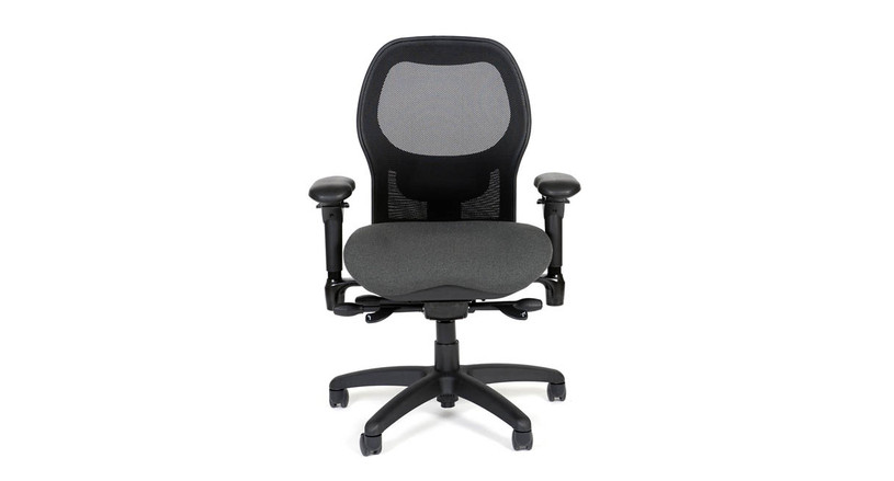 High back mesh chair with a complete range of ergonomic adjustments