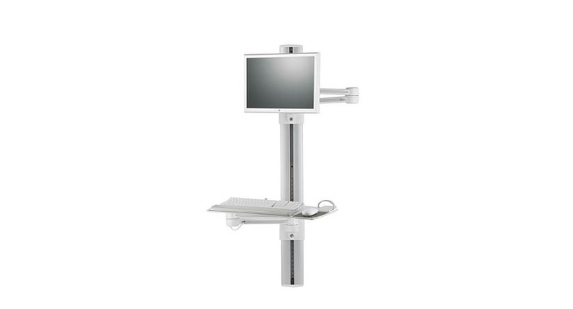 Extra-long monitor and keyboard arms offer extreme reach to supports a wide range of users and postures
