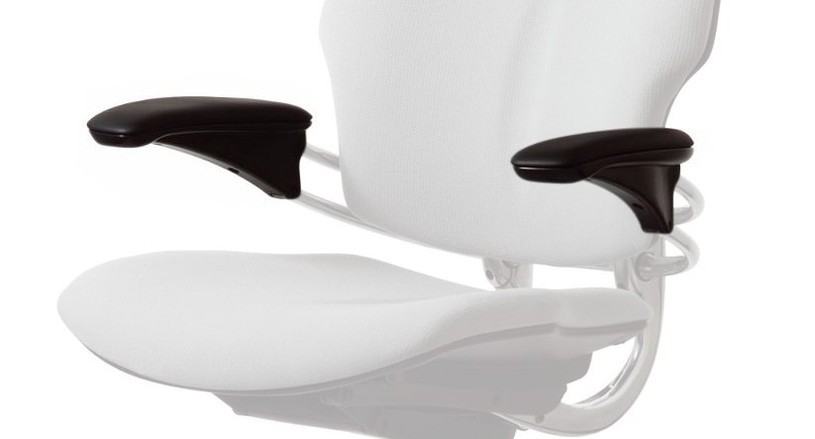Natural lift and release action allows for quick repositioning sans buttons or locks with the Humanscale Freedom Chair Retrofit Armrest Kit
