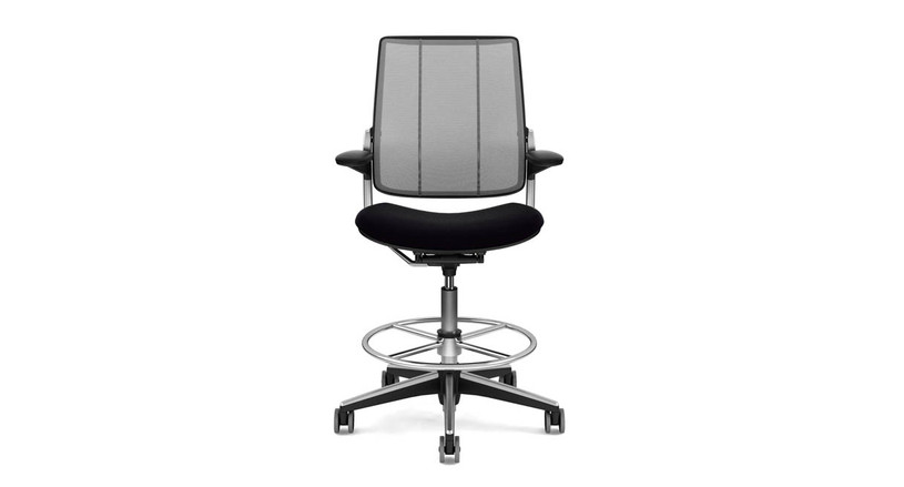 Seat cushion is contoured to reduce pressure points