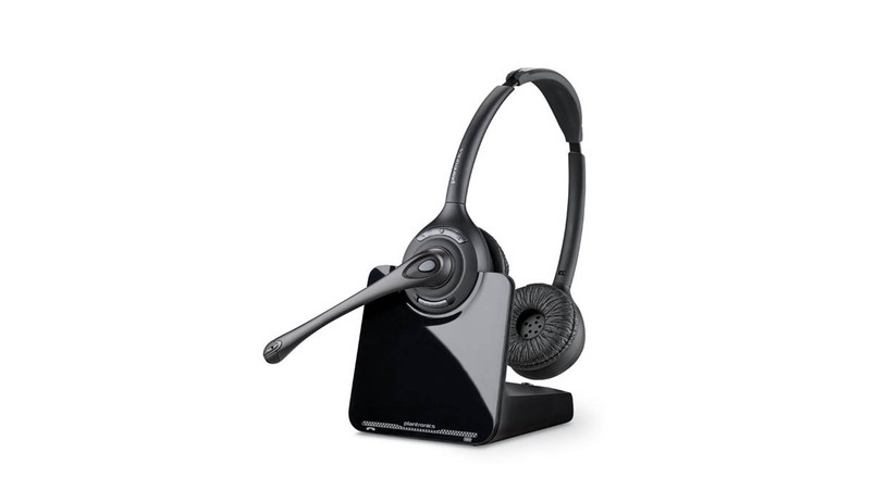 The Plantronics CS520 Wireless Headset features DECT technology that provides clearer audio and eliminates WiFi interference