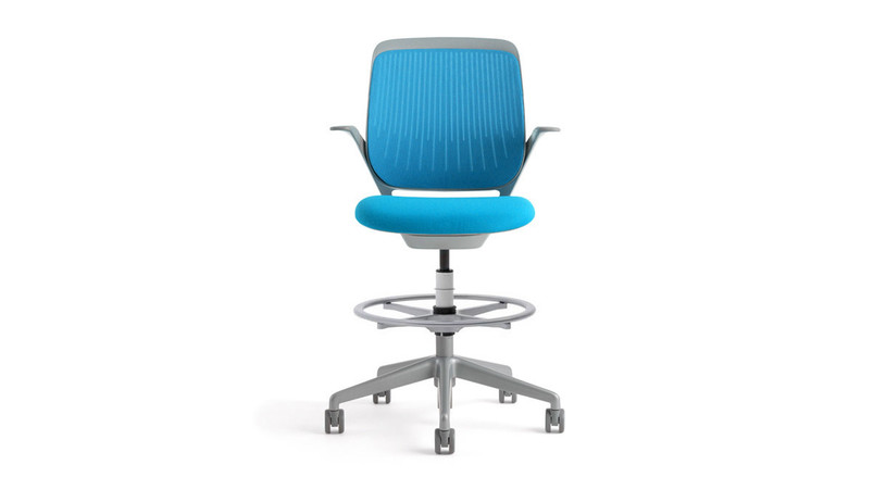 The Steelcase Cobi Drafting Stool's back flexes to support your body in any position