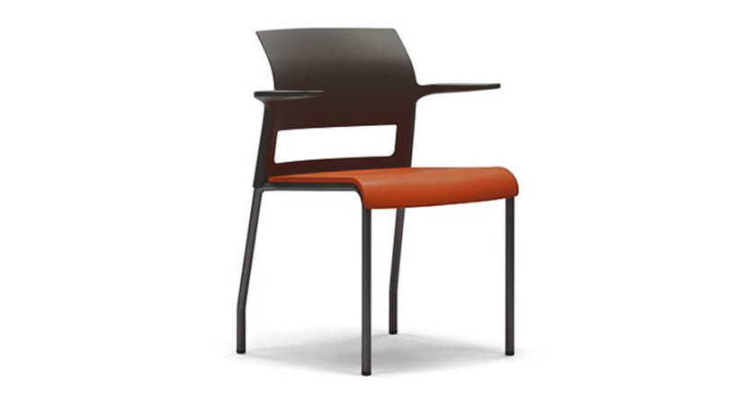 Clean, contemporary design allows the chair to fit into a wide variety of environments