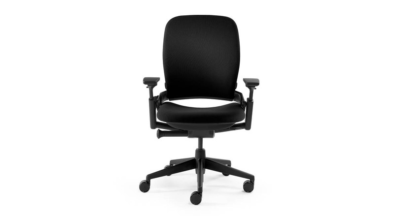 Responsive LiveBack technology lets the Leap's padded, contoured chair back flex with your spine as you move