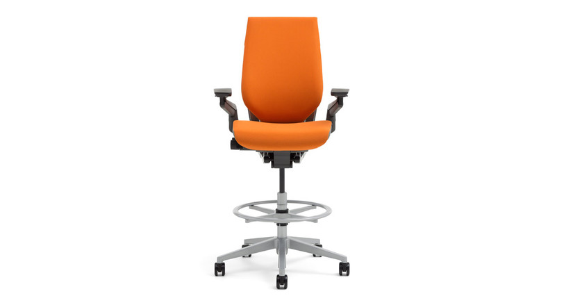 The Gesture Drafting Stool is able to give you ergonomic support at a taller height