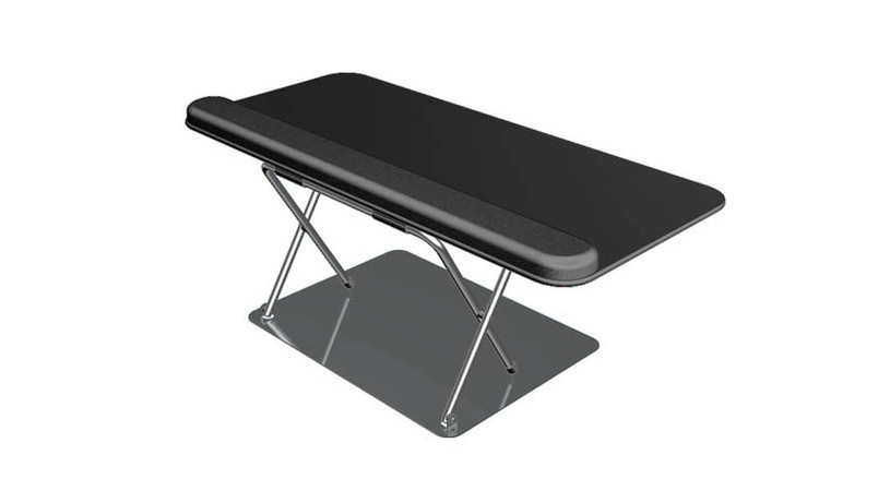 Desktop keyboard riser for users who can't mount a traditional keyboard tray under their desk