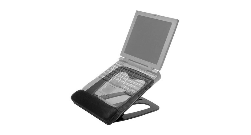 Easily portable ergonomic stand for laptops
