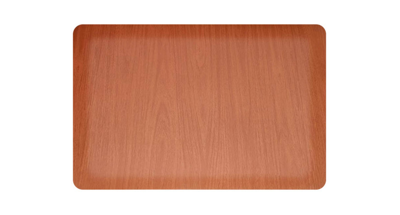PVC top features an attractive wood grain finish