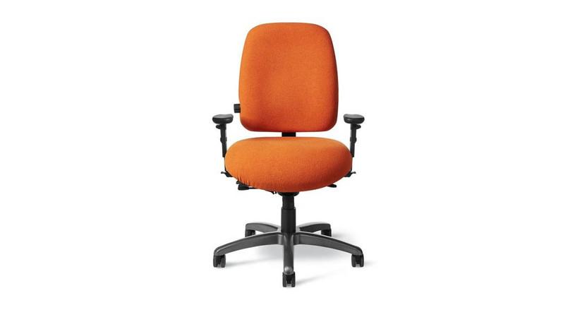 Tilting backrest and seat
