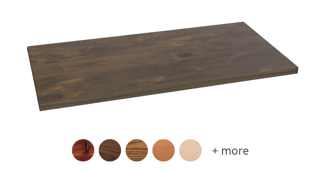 Uplift Rectangular Solid Wood Desktops