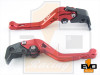Ducati Scrambler (not Cafe racer or Desert Sled) Shorty Brake & Clutch Levers - Red