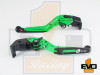 Honda CBR 600 F2, F3, F4, F4i Brake & Clutch Fold & Extend Levers - Green
