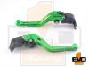 Aprilia DORSODURO 750 Shorty Brake & Clutch Levers - Green