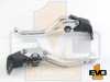 Aprilia Caponord 1200/ Rally Shorty Brake & Clutch Levers - Silver