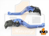 Kawasaki ZX6R / ZX636R / ZX6RR Shorty Brake & Clutch Levers- Blue