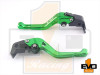 Kawasaki ZX6R / ZX636R / ZX6RR Shorty Brake & Clutch Levers- Green