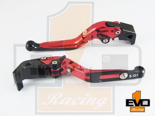 Ducati Scrambler (not Cafe racer or Desert Sled) Brake & Clutch Fold & Extend Levers - Red
