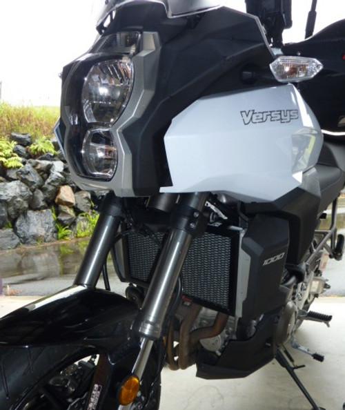 BLACK Kawasaki Versys 1000 2012-2018 RAD GUARD Radiator Guard