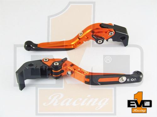 BMW K1200R Sport Brake & Clutch Fold & Extend Levers - Orange