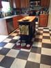 Pura Vida customer use of checkered past vinyl floor cloth