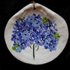 Hand Painted Scallop Shell - Hydrangea