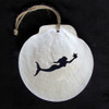 Scallop Shell Ornament - Mermaid
