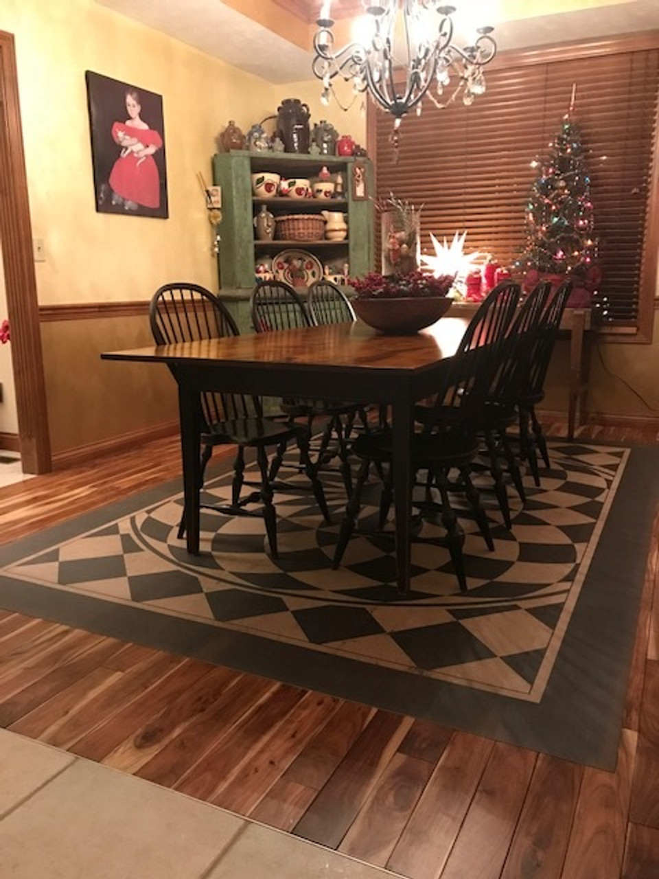 Pura Vida customer use of We're all mad here vinyl floor cloth
