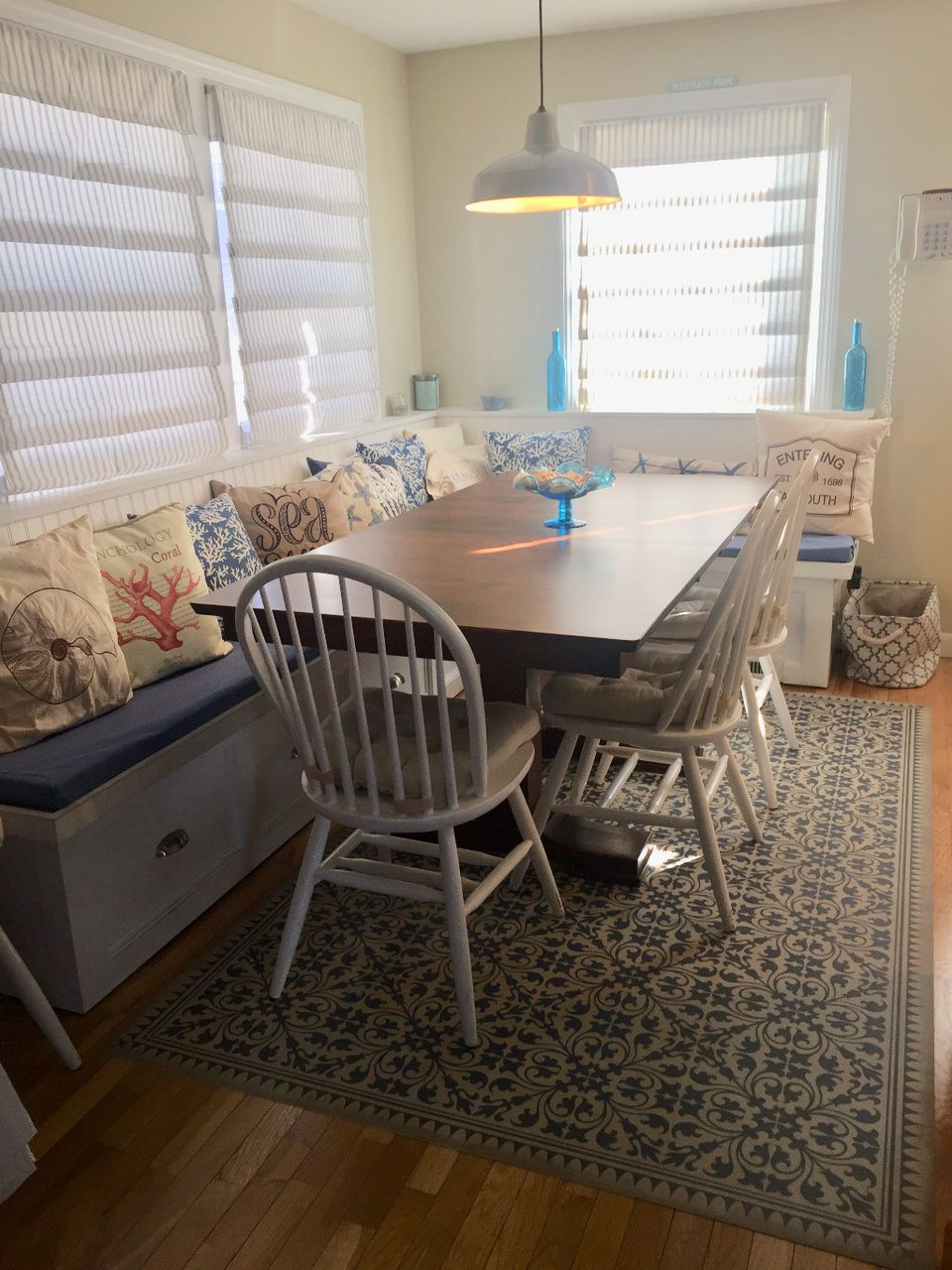 Pura Vida customer use of Mad Hatter Tea Party vinyl floor cloth