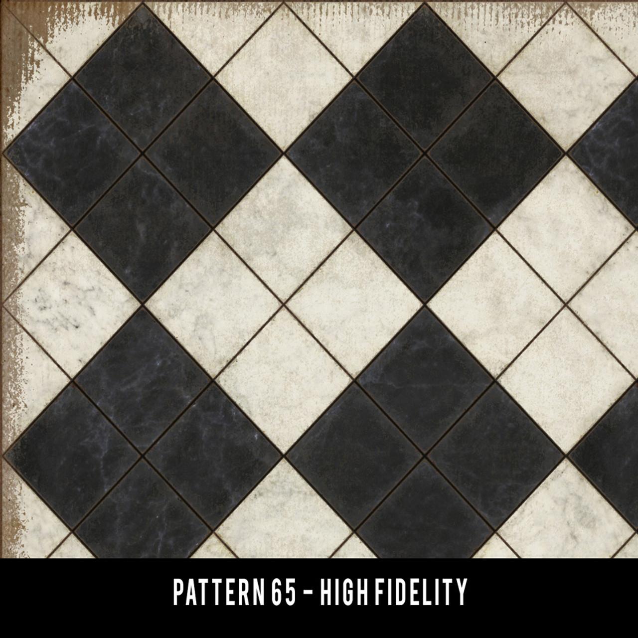 Pattern 65 High Fidelity vinyl floor cloth swatch sample
