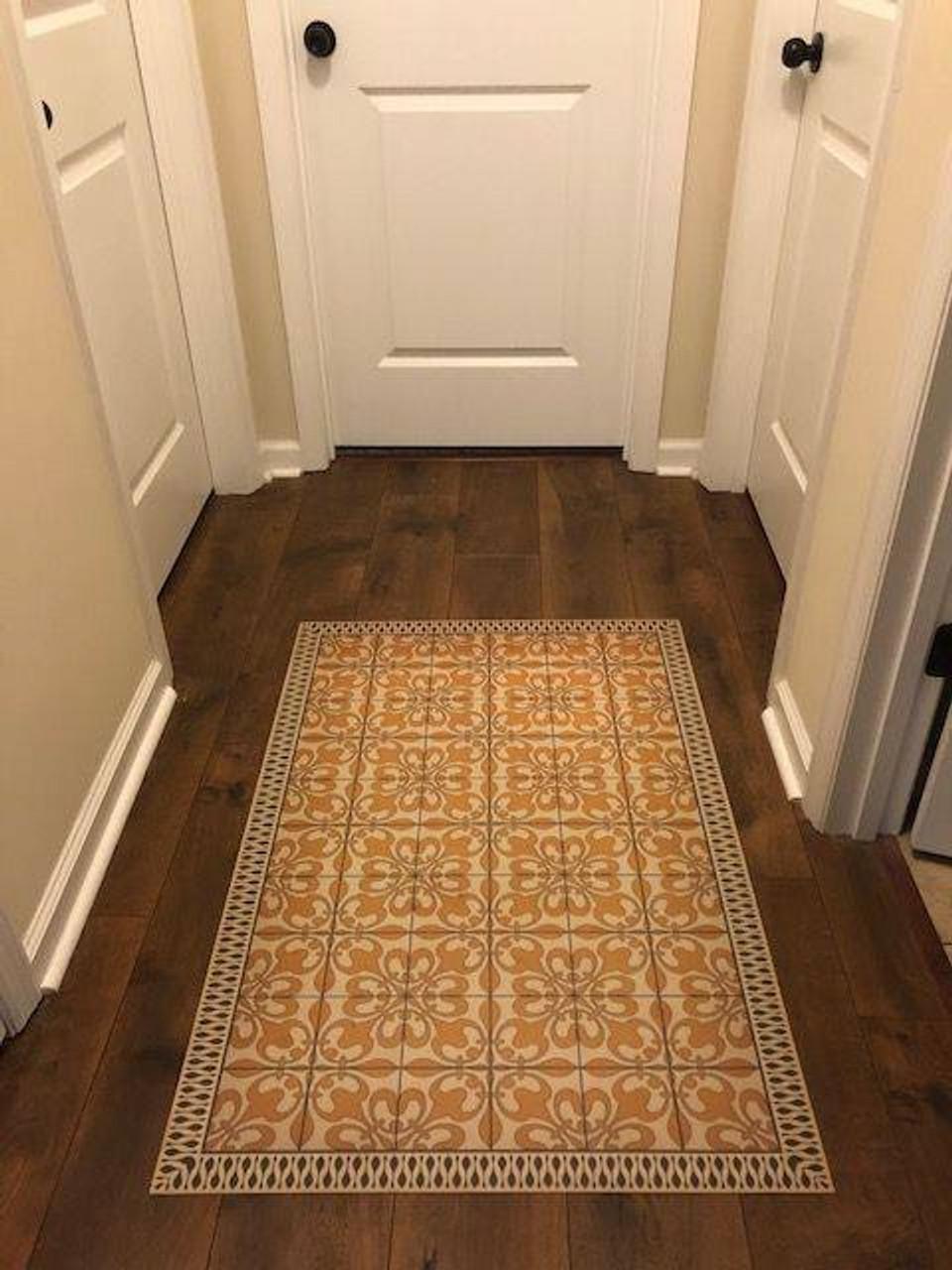 Pura Vida customer use of The Last Straw vinyl floor cloth