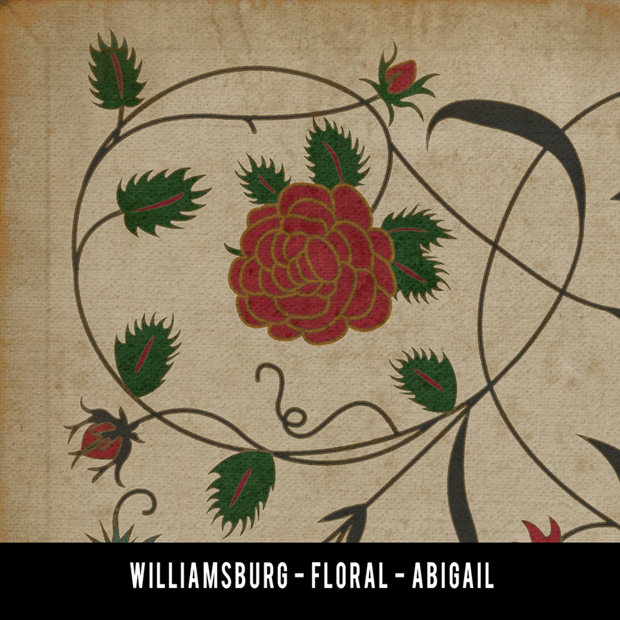 Floral Abigail swatch sample