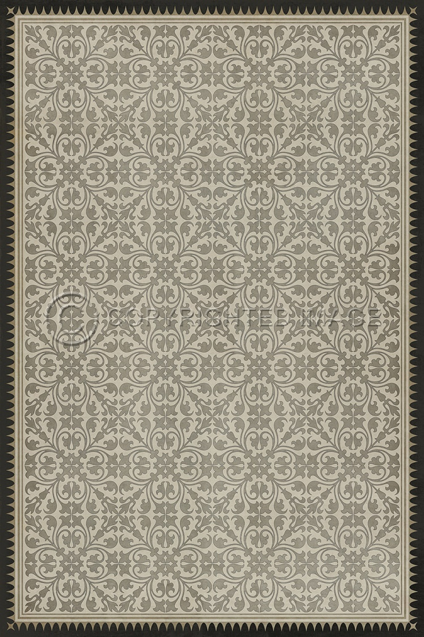 Pattern 21 The White Knight vinyl floor cloth