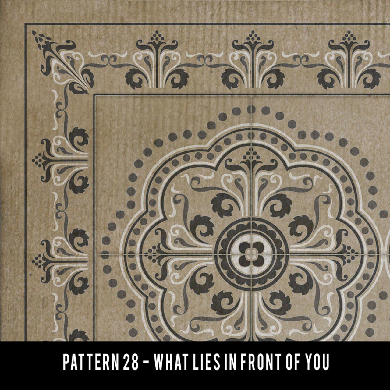 Swatches for Pattern 28 - vinyl floor cloths