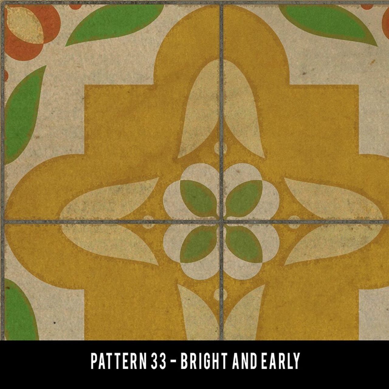Swatches for Pattern 33 - vinyl floor cloths