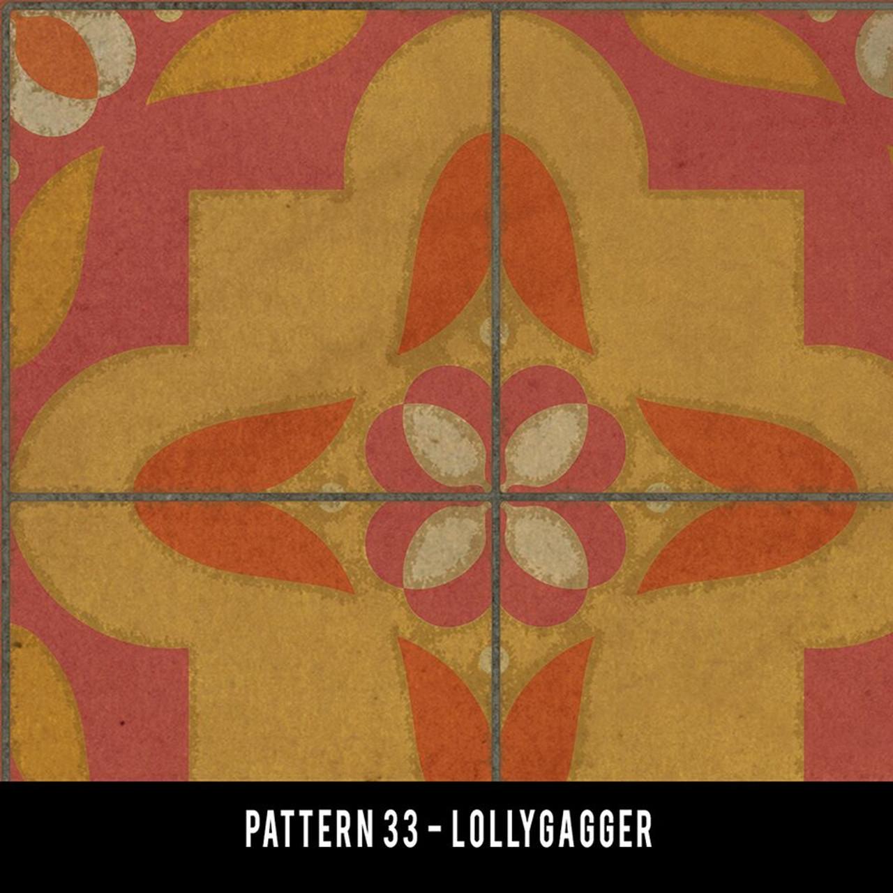 Swatches for Pattern 33 - vinyl floor cloths