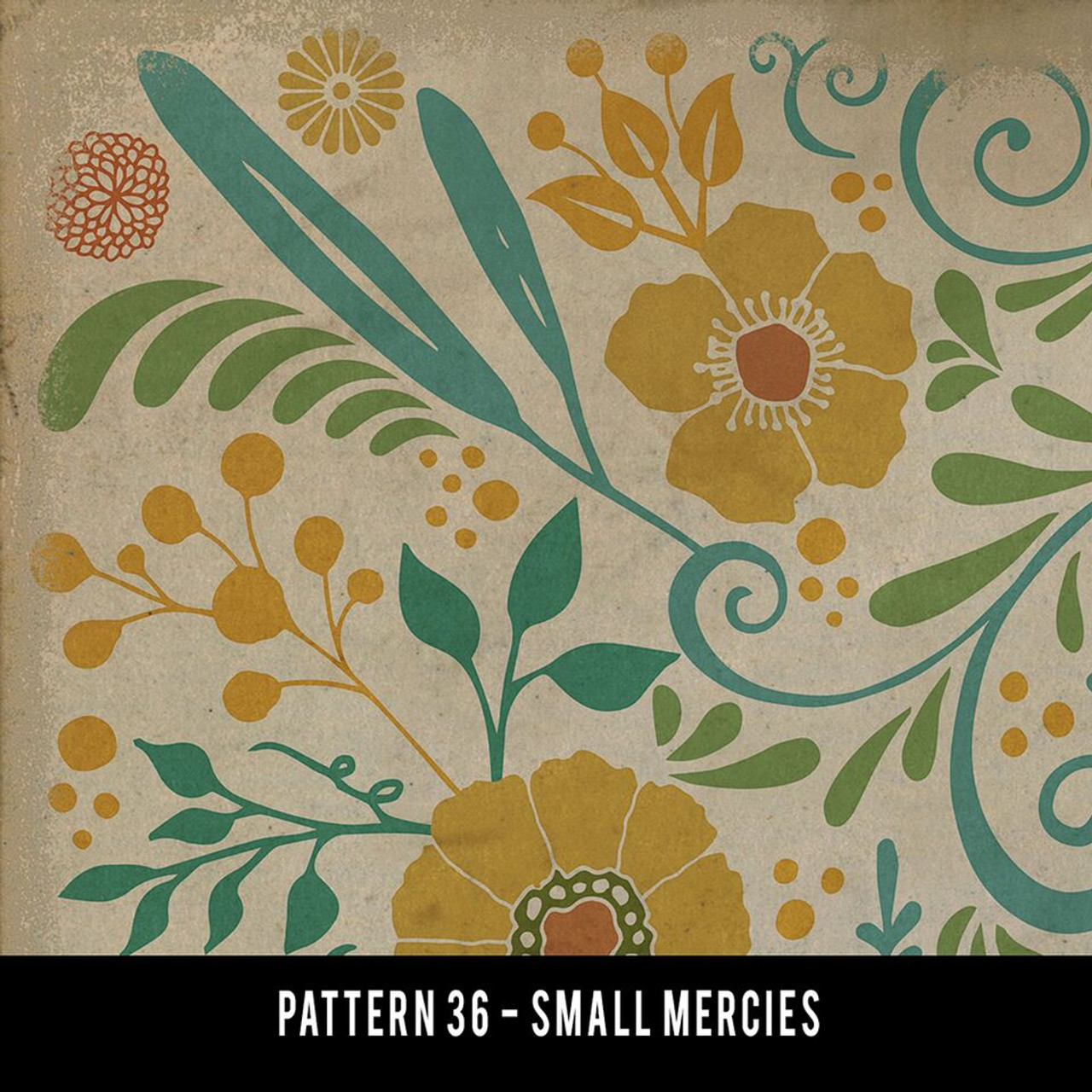 Swatches for Pattern 36 - vinyl floor cloths