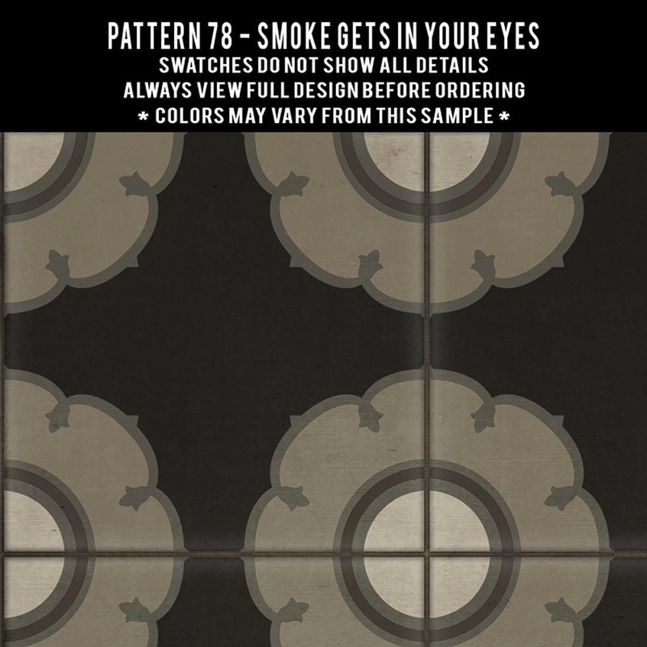 Swatches for Pattern 78 - vinyl floor cloths
