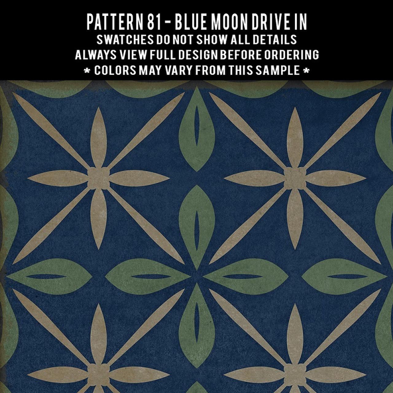 Swatches for Pattern 81 - vinyl floor cloths