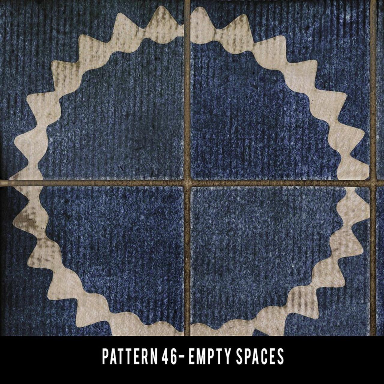 Pattern 46 Empty Spaces vinyl floor cloth detail