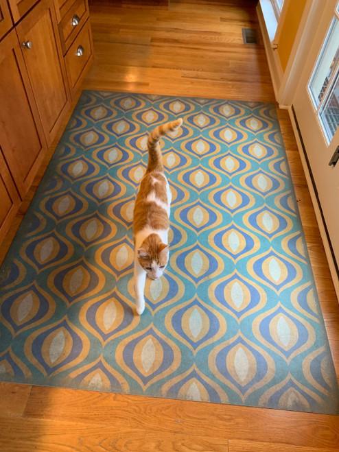 Pattern 15 Atlantis - vinyl floor cloth