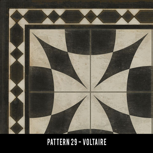 Swatch for Pattern 29 - vinyl floor cloth