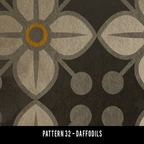 Swatch for Pattern 32 - vinyl floor cloth
