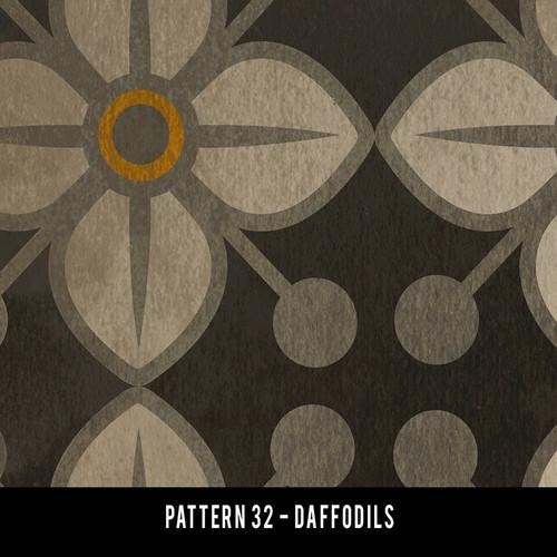 Pattern 32 Daffodils QS 20x30 - vinyl floor cloth