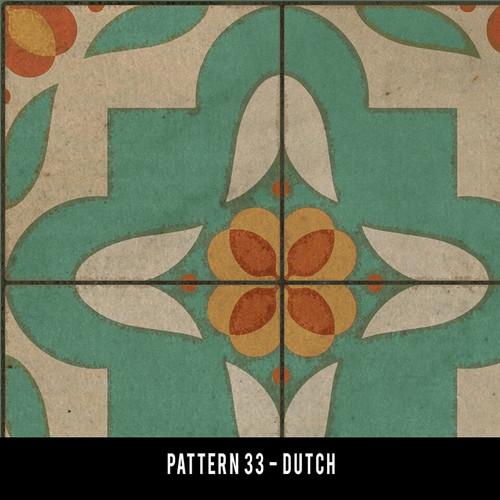 Pattern 33 Dutch swatch sample