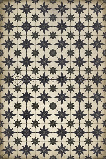 Pattern 20 Astraea vinyl floor cloth