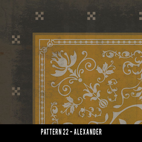 Swatches for Pattern 22 - vinyl floor cloths